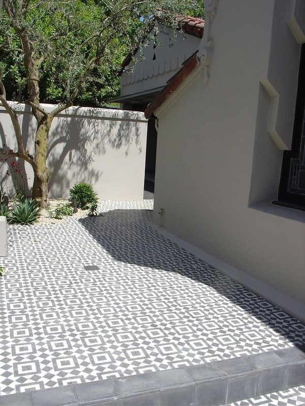Cement Tiles For Backyard : side yard cement tile  outdoors  Pinterest