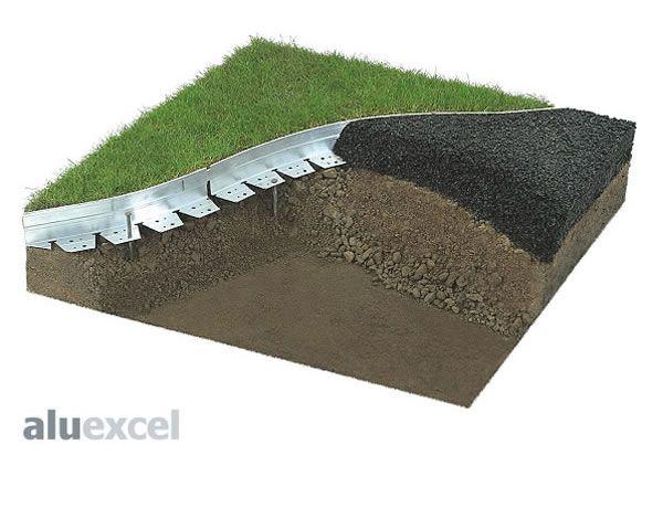 Aluexcel aluminium hard surface edging garden stuff for Hard surface garden designs