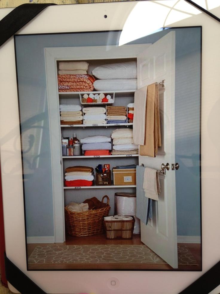 Linen closet in master bedroom bathroom pinterest for Master bathroom and closet