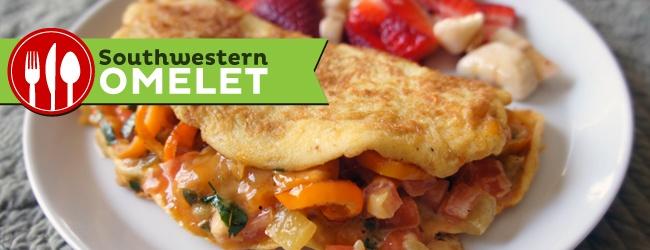 Southwestern Omelet #omelet #breakfast #southwestern #eggs