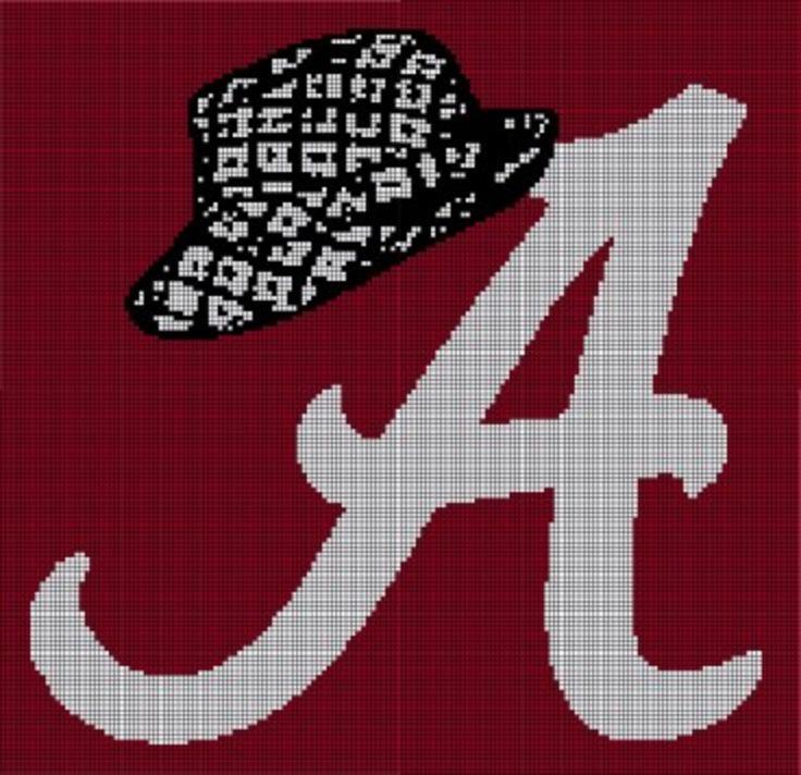 Crochet Patterns Alabama Football : Alabama Crochet Pattern Afghan Graph, $5.00... Pattern now available ...