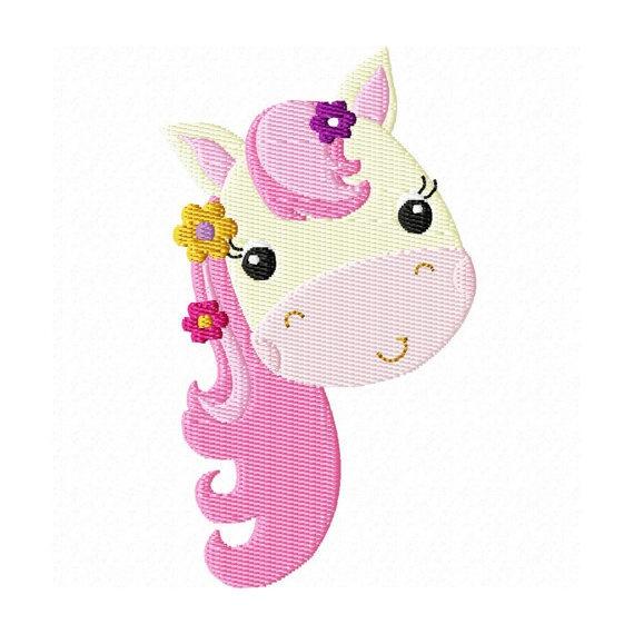 Instant download 4x4 pretty pony design by breezylaneembroidery 2 99