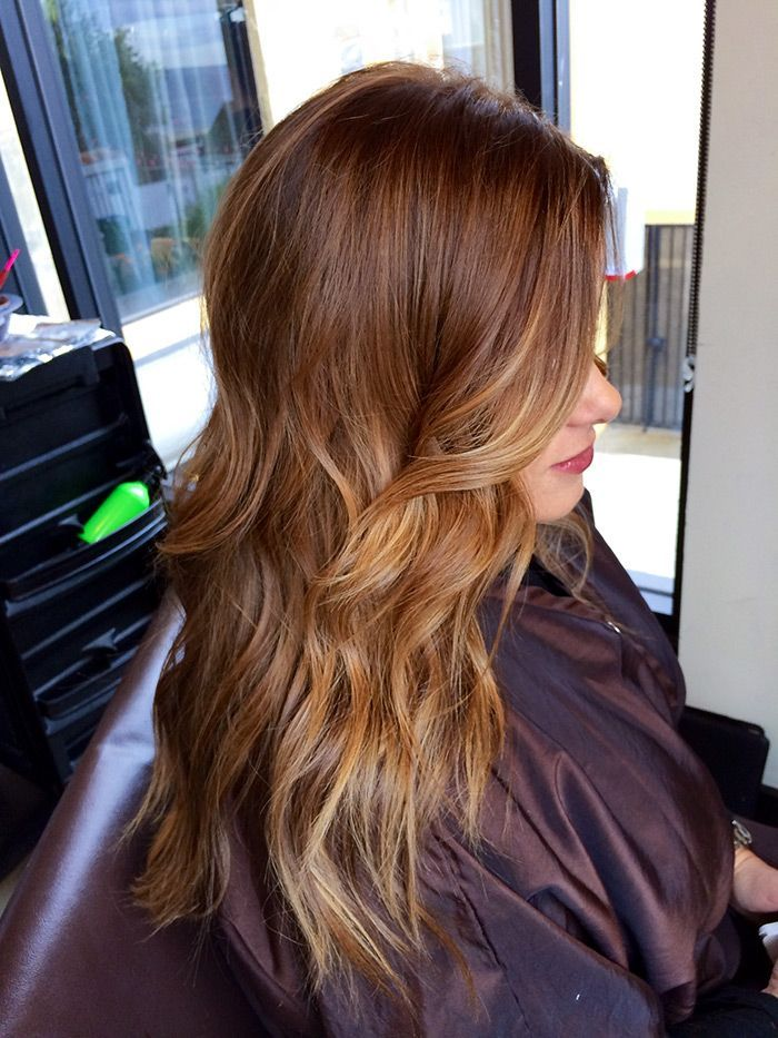 Chestnut Hair Color with Highlights
