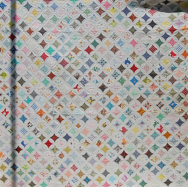 Cathedral window quilt textiles pinterest for Window quilt