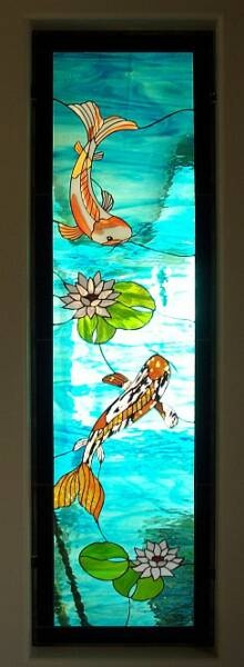 Pin by madelyn woodson on stained glass pinterest for Koi pool singleton