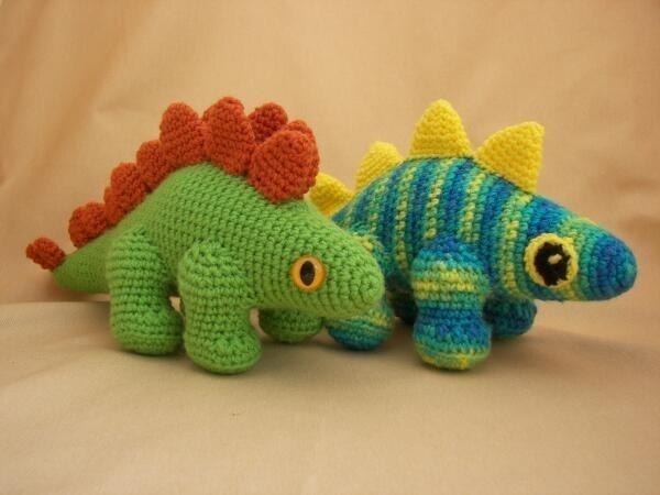 Crochet Dinosaur : Stegosaurus Amigurumi Dinosaur Crochet Pattern Dog Breeds Picture
