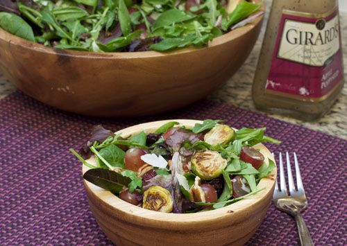Sweet Cheeks Salad - with brussel sprouts and grapes. So good! (not ...