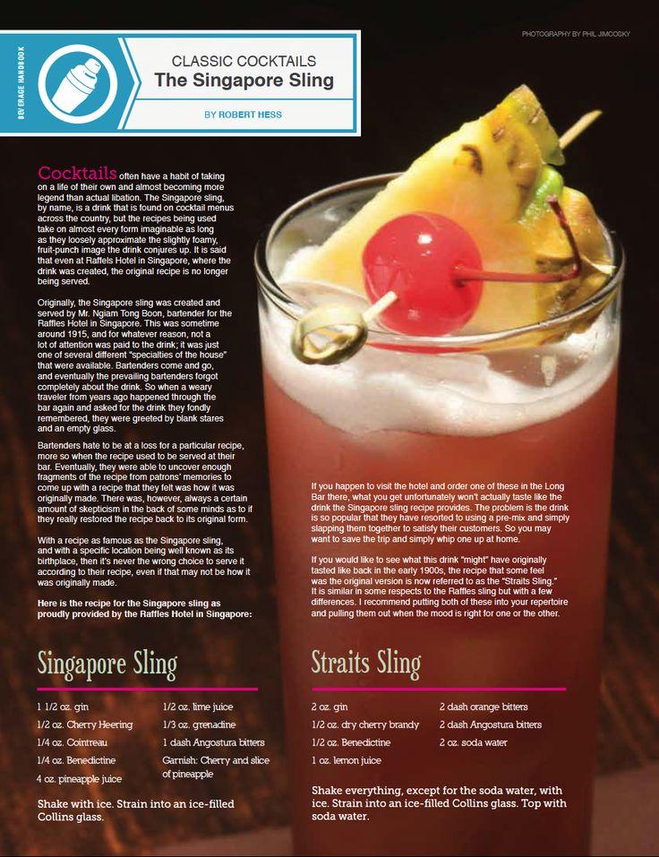 The Singapore Sling Recipes — Dishmaps