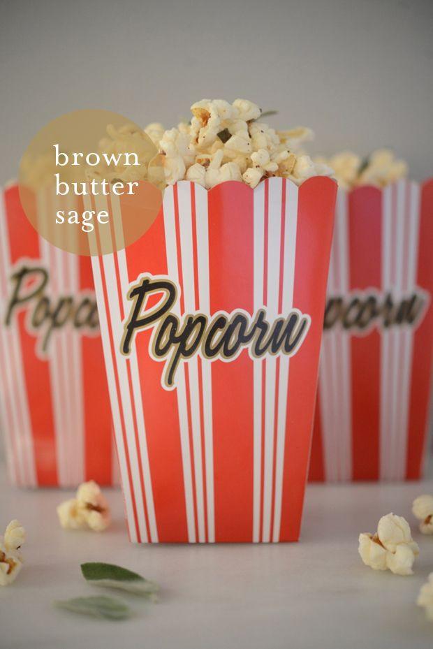 brown butter sage popcorn | Food Worth Eating | Pinterest