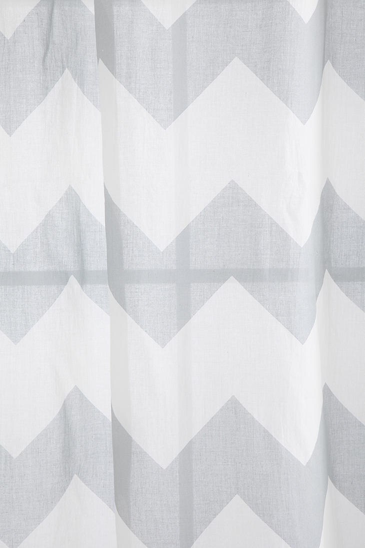 Turquoise And Gray Shower Curtain Grey and White Chevron Wallp
