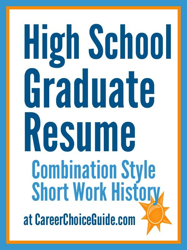 Best Resume Format For High School Graduate