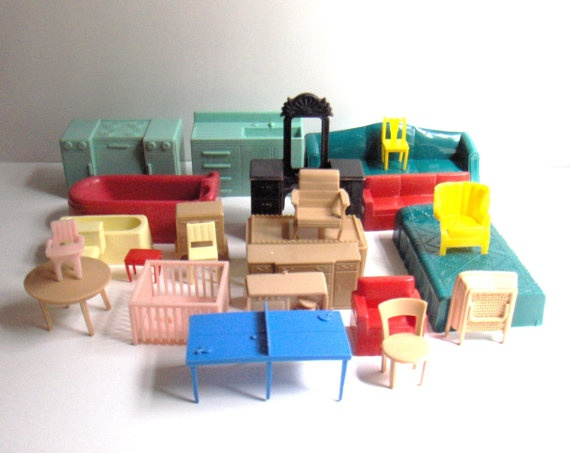 Vintage Plastic Dollhouse Furniture Things I Collect Pinterest