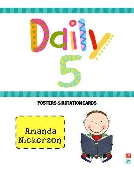 Use these FREE posters and rotation cards to facilitate The Daily 5 in your classroom!  Posters include Word Work, Read to Self, Read to Someone, Listen...