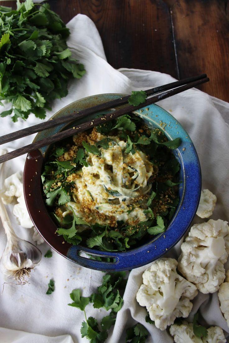 Cauliflower-cilantro-noodle bowl | Edible Eatables | Pinterest