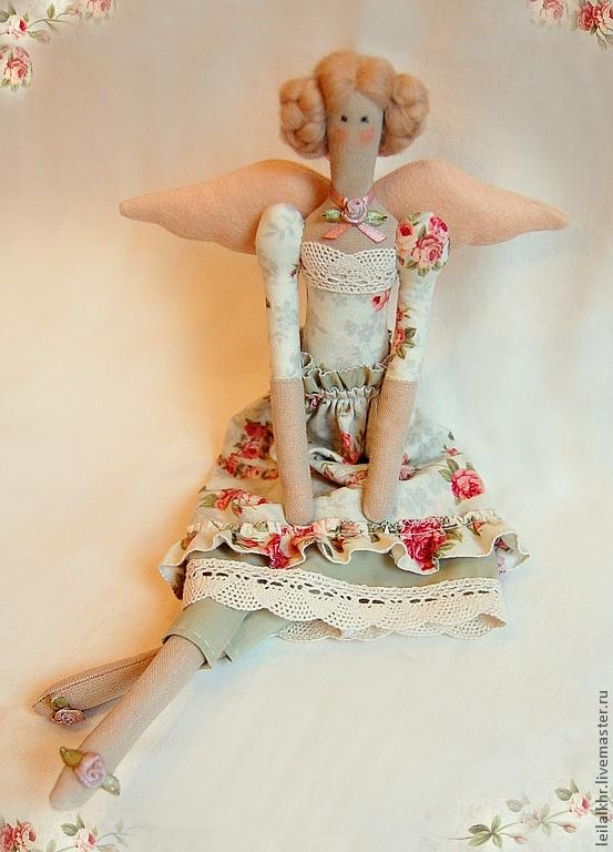 """Тильда куклы ручной работы.  Ярмарка Мастеров - ручная работа текстильная кукла """"Феечка роза"""".  Ручная работа."""