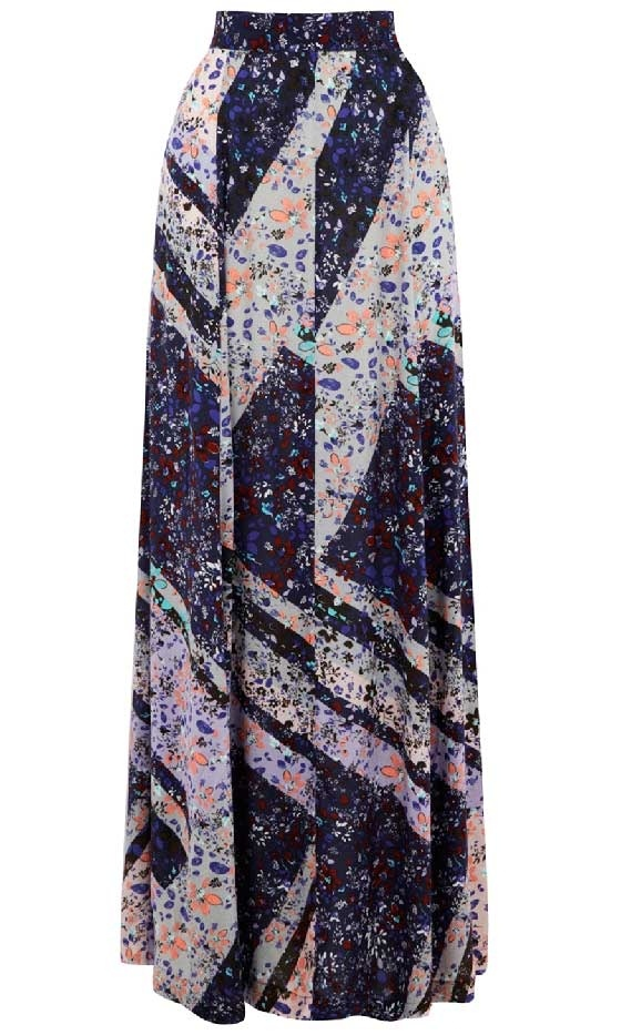 floral maxi skirt my style
