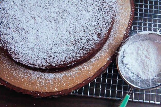 Flourless chocolate prune & brandy cake | Recipe