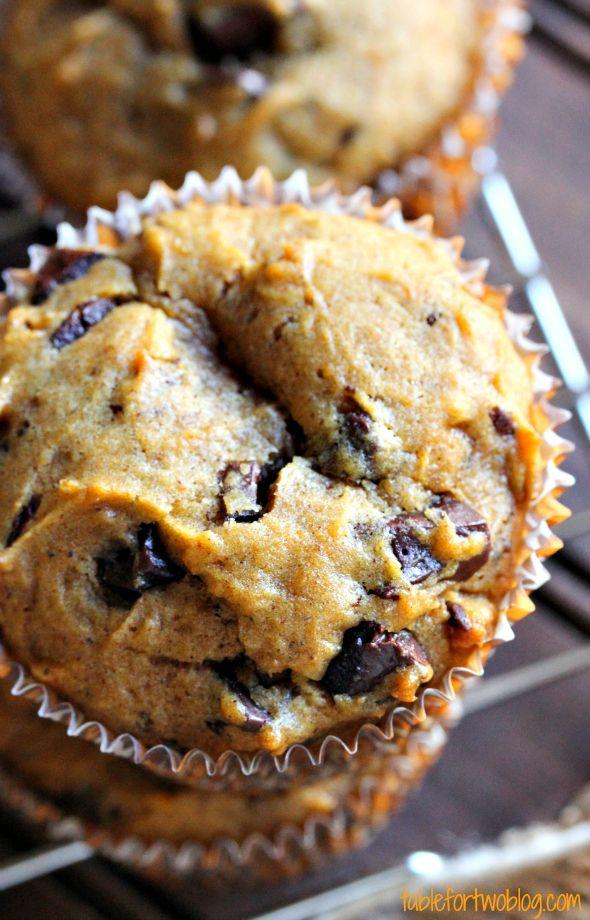 Pumpkin Spice Chocolate Chunk Muffins...pinner said-My mom has this ...