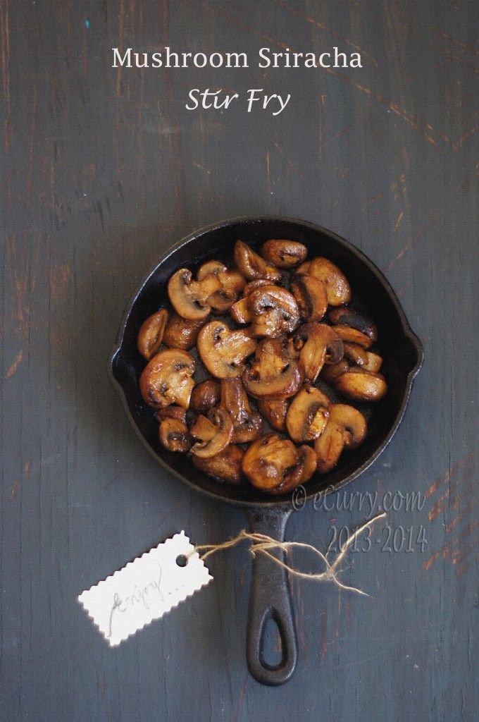 Mushroom Sriracha Stir Fry | Food and Drink | Pinterest
