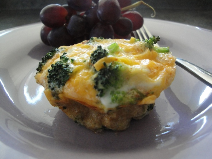 Broccoli and Cheese Mini Egg Omelets | Breakfast | Pinterest