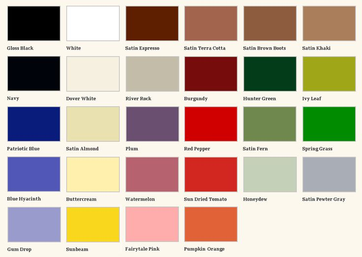 Krylon Paint Color Chart Pictures To Pin On Pinterest Pinsdaddy
