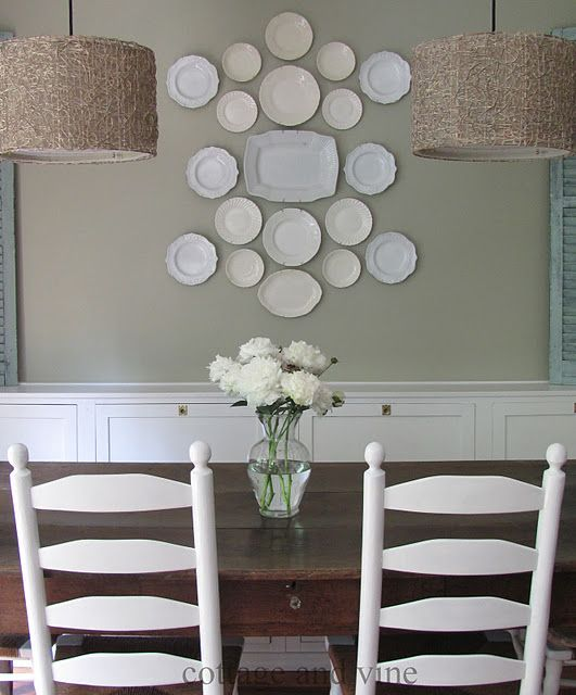 Decorating with Plates Using Dinner Plates to Decorate