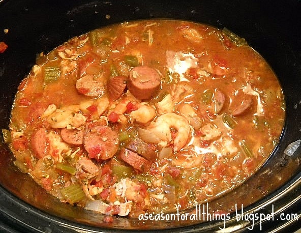 A Season for All Things: Jambalaya... slow cooker style!