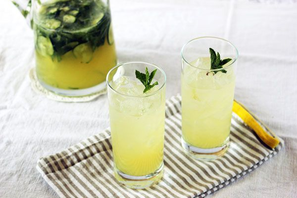 ... be doing with it! Tangy, refreshing Boozy Mint Lemonade with cucumber