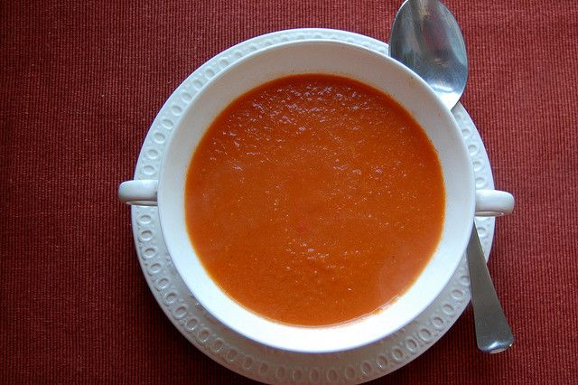 Spicy Tomato and Blue Cheese Soup | Soup's On | Pinterest