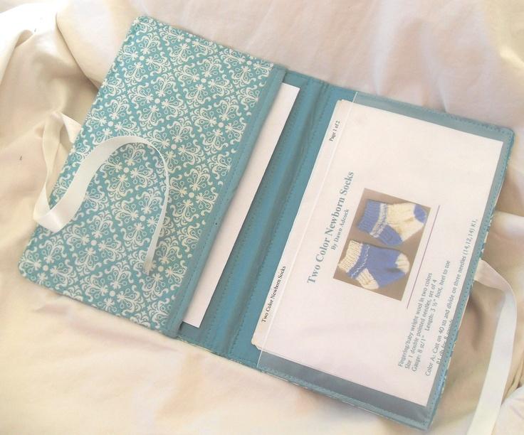 Pattern Wallet Knitting Pattern Keeper Holder Chart Helper Aqua Damask