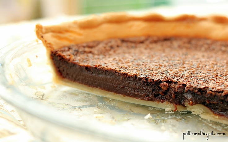 Chocolate Chess Pie | CHOCOLATE | Pinterest