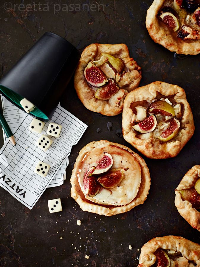 Fig and goat cheese pies. | Bon Appetit! | Pinterest