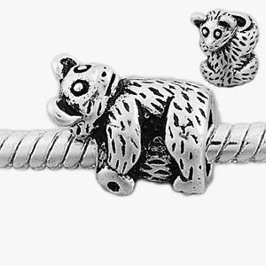 Silver sloth charms bead for charm bracelets jewelries gallery