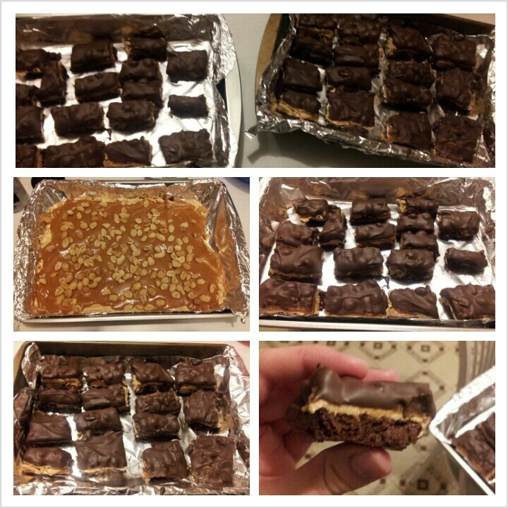 My snickers brownie bites. :) | go fat or go home | Pinterest