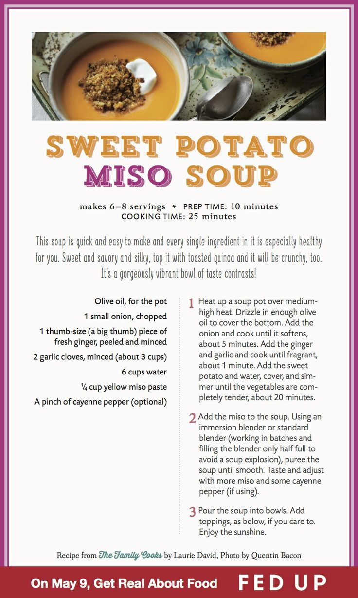 Sweet Potato Soup With Miso And Ginger Recipes — Dishmaps