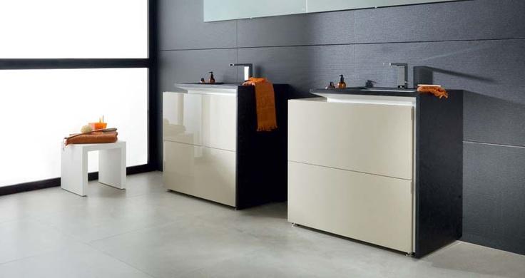 Muebles De Baño Porcelanosa:Muebles de baño CALA acabado Moka Brillo Granito Len GAMADECOR