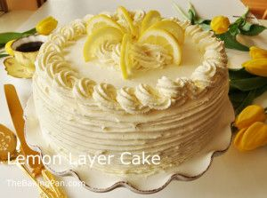Lemon-Layer-Cake | Lemon Cake | Pinterest