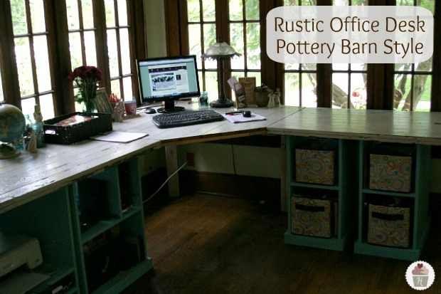 Rustic Office Desk Diy Project Diy Pinterest