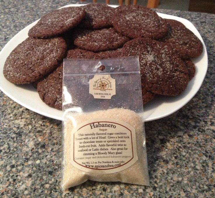 ... Chocolate Sugar cookie recipe & added the Habanero Sugar- oh yeah