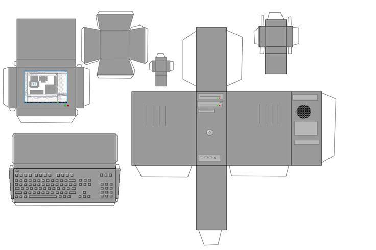 Computer Papercraft Template