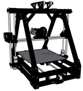 Reprap mendelmax 1 5 3d printer full unassembled kit all black