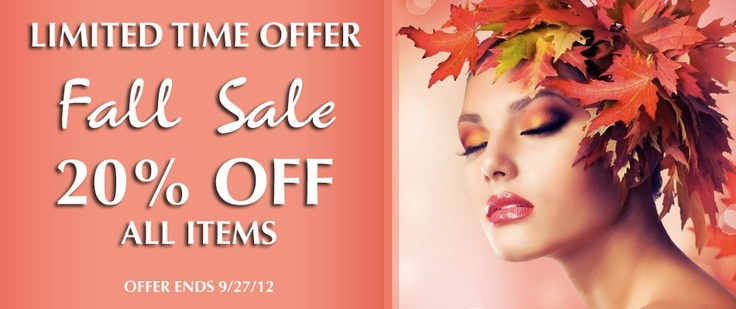 fall products sale limited time