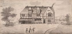 (From the British Library's online Gallery) Shakespeare's house, Stratford upon Avon