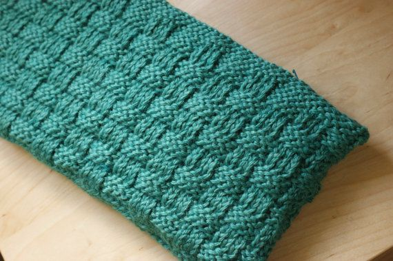 Knitted Clutch Pattern : Clutch Purse Knit Teal Basketweave Pattern by thePknitgallery