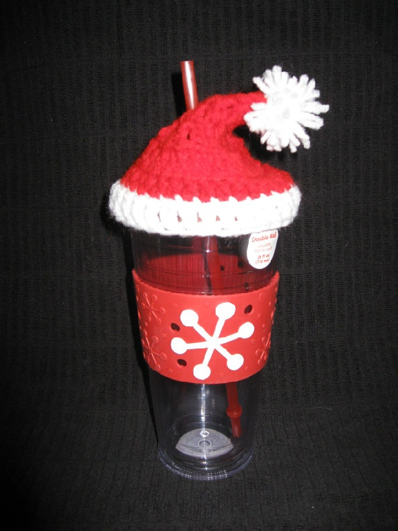 Santa Hat Cup Topper! | Look What I Made! | Pinterest