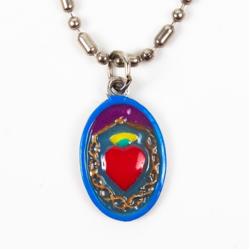 Sacred Heart Of Jesus Necklace now featured on Fab. $20.00