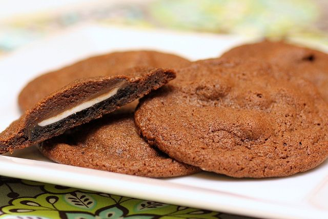 Mint Oreo Stuffed Chocolate Cookies | Sweet Treats | Pinterest