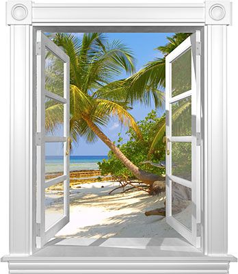 Heron beach window mural nice view pinterest for Beach window mural