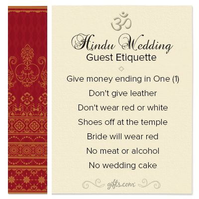 Wedding Gift Etiquette If Not Invited Wedding : ... gifts.com/etiquette/stellar-gift-guide-4-hindu-wedding-guest-etiquette