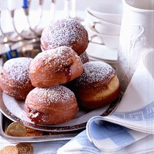 """Sufganiyot, the Israeli name for """"jelly doughnut,"""" is a popular ..."""